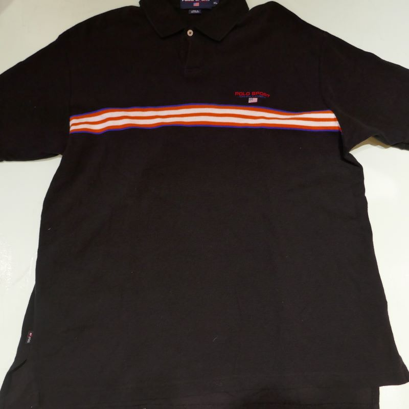 USED POLO SPORT POLO SHIRT BLACK