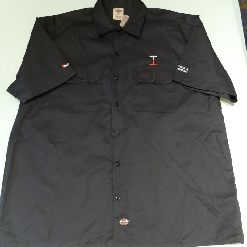USED DICKIES TRUCK-LITE S/S WORK SHIRT BLACK