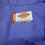 USED DICKIES S/S WORK SHIRT BLUE L/W