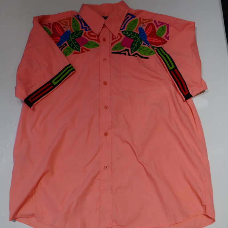 USED RESERVE S/S QUILTED SHIRT PINK GRAPEFRUIT