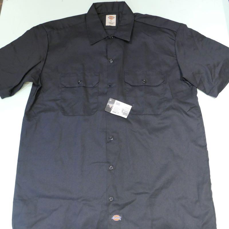 USED DICKIES S/S WORK SHIRT BLACK L