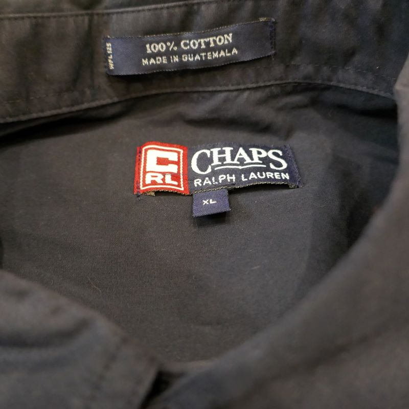 USED CHAPS S/S BD SHIRT NAVY