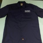 USED DICKIES SURE SHOT S/S WORK SHIRT NAVY