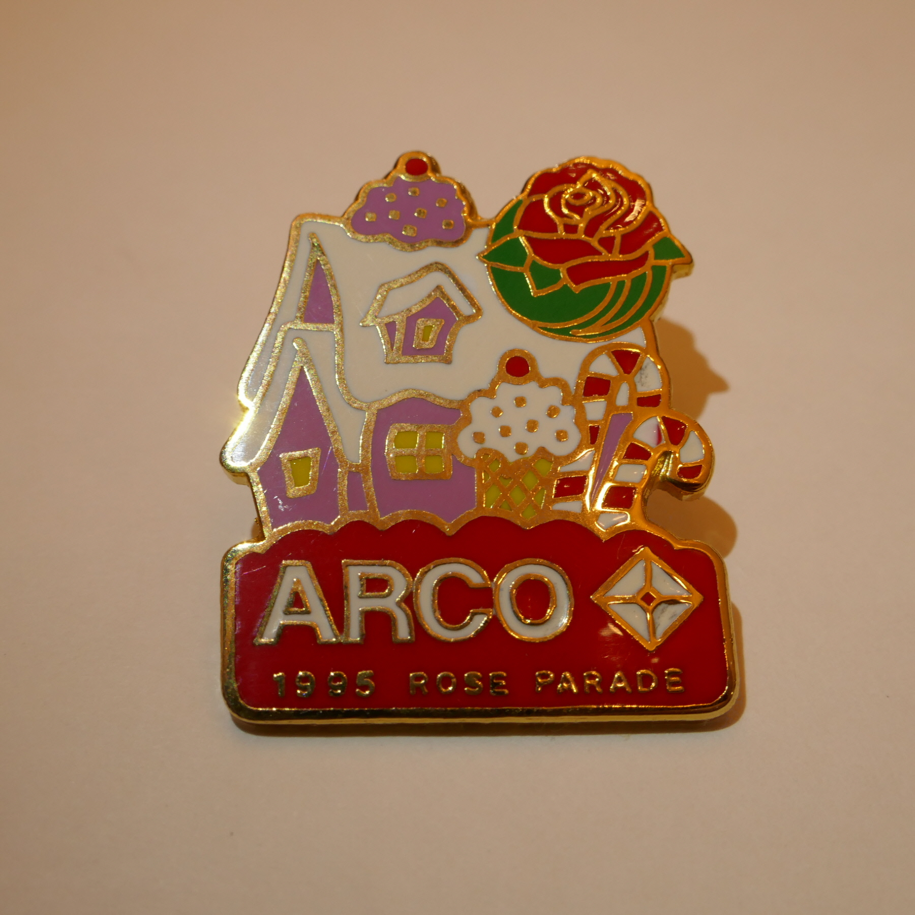 ARCO 1995 rose parade pins