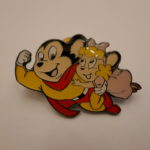 Mighty mouse and a girl pins