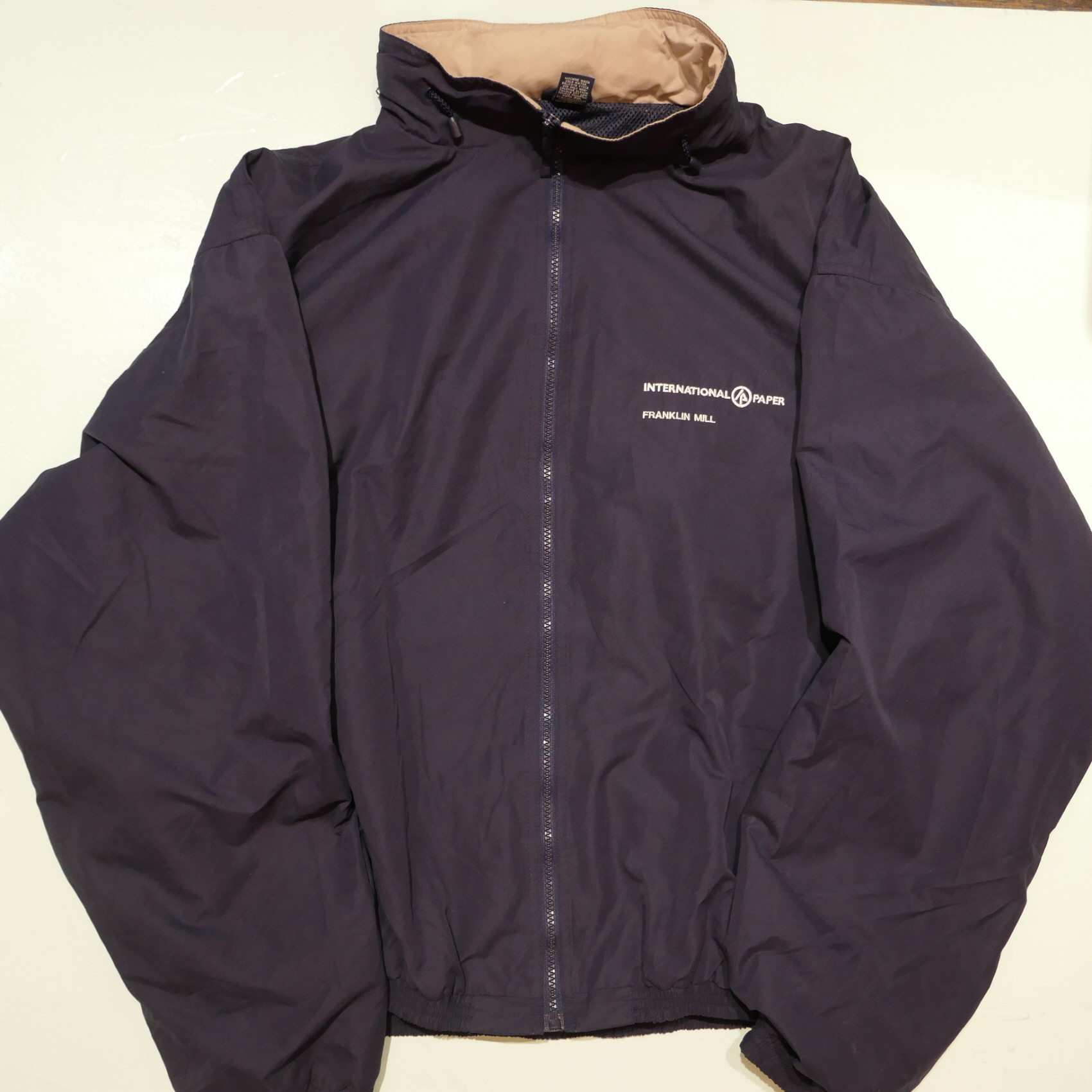 USED INTERNATIONAL PAPER WORK JACKET NAVY