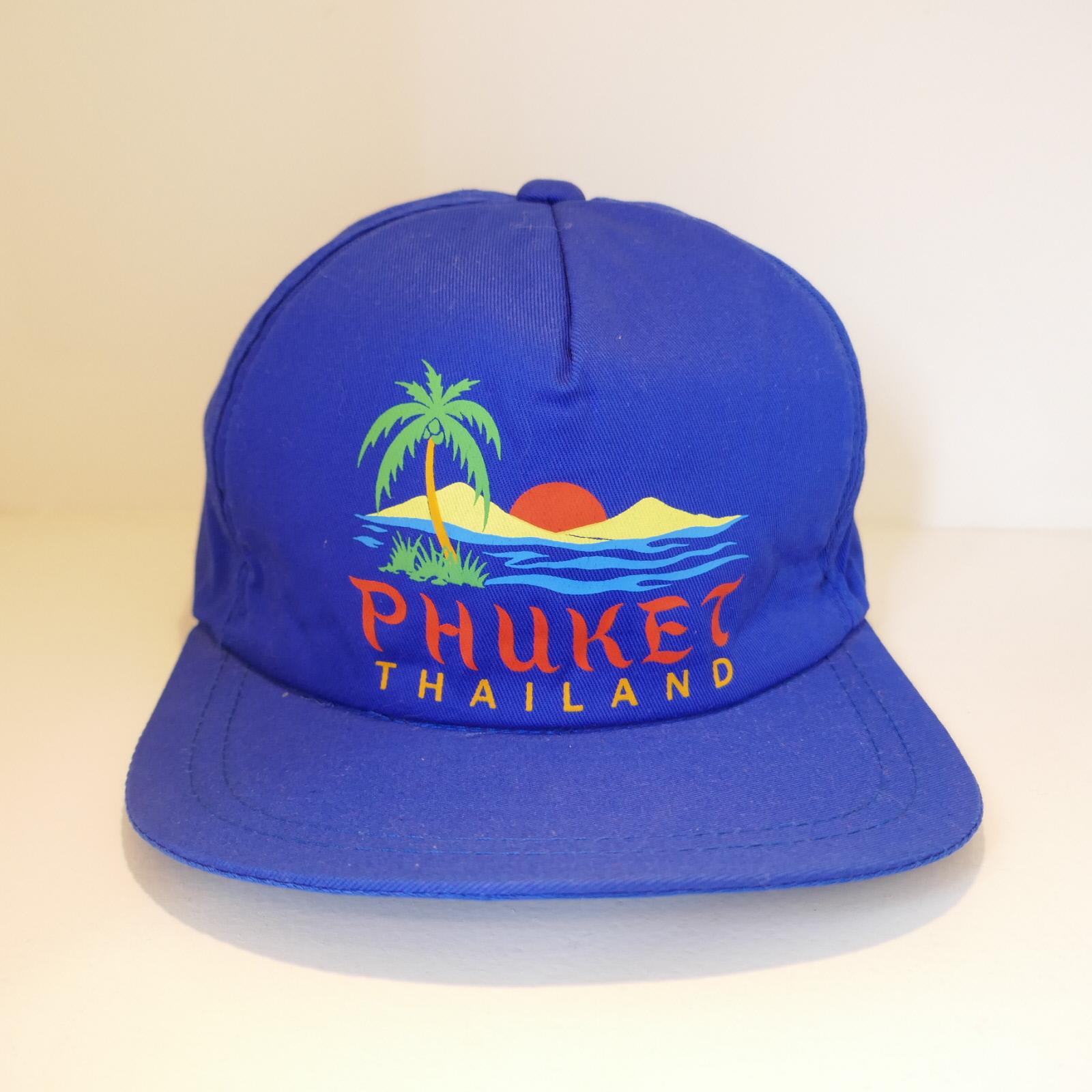 USED PHUKET SOUVENIR CAP BLUE