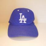 USED LA DODGERS CAP BLUE