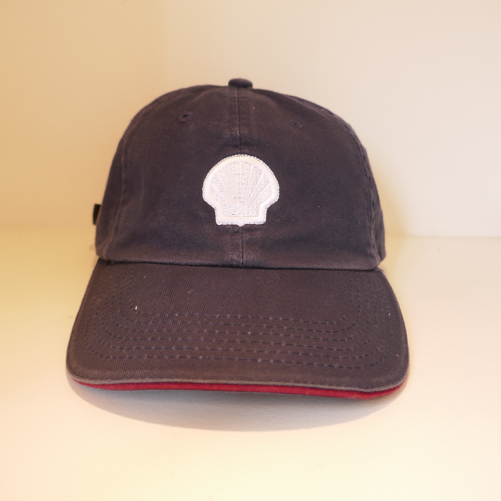 USED SHELL WHITE LOGO CAP NAVY