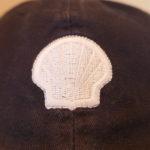 USED SHELL WHITE LOGO CAP NAVY