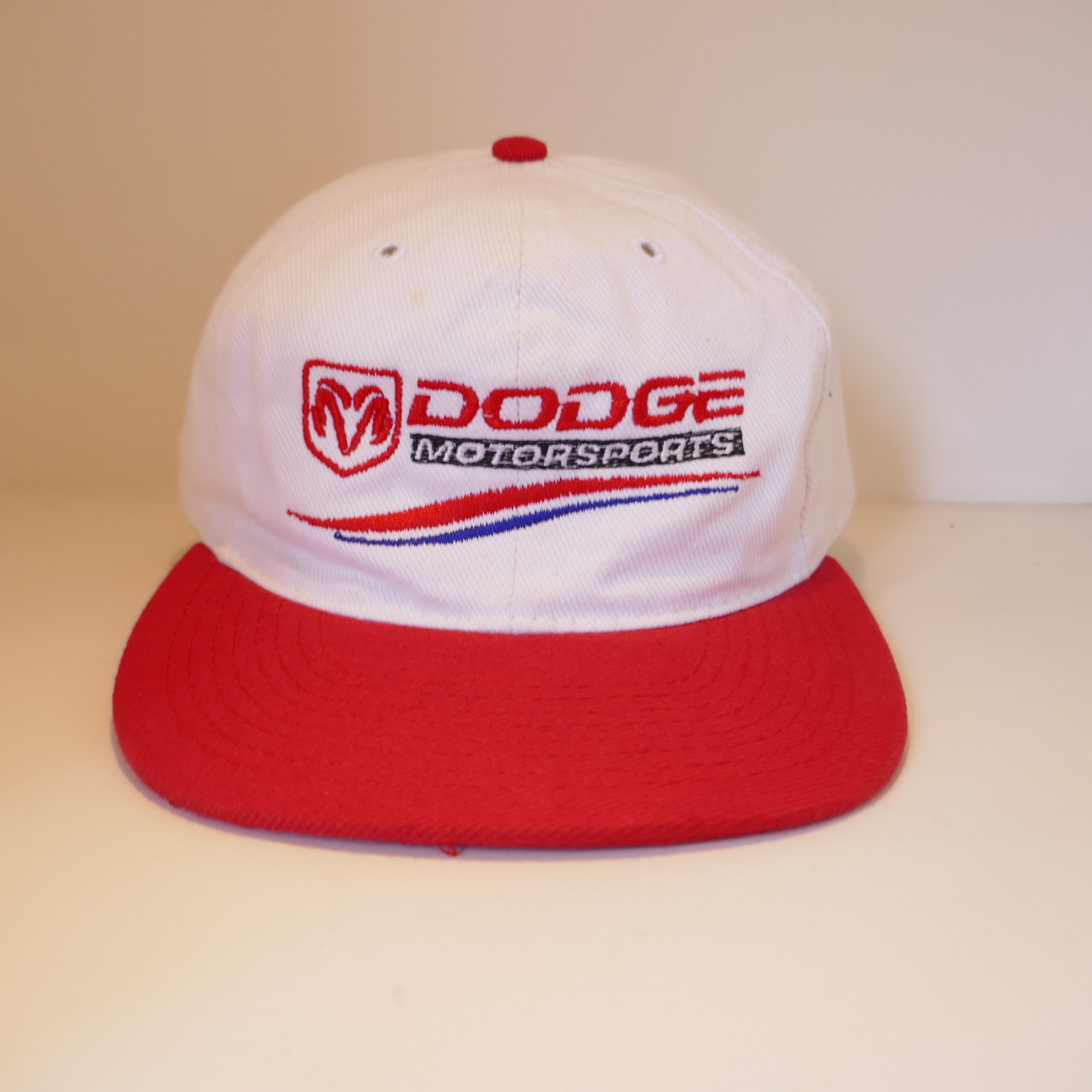 USED DODGE MOTOR SPORT CAP WHITE×RED