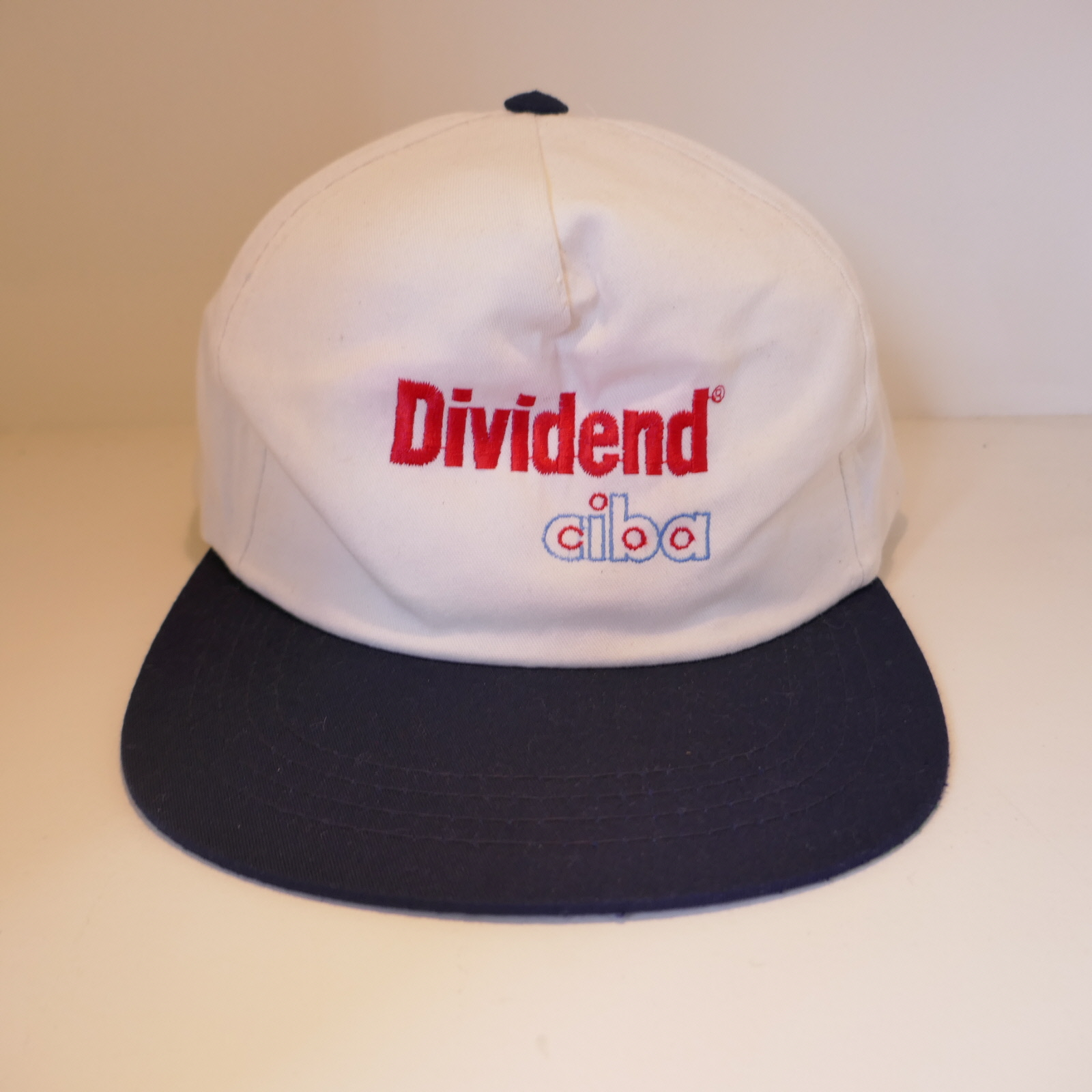 USED DEVIDEND CIBA CAP WHITE×NAVY