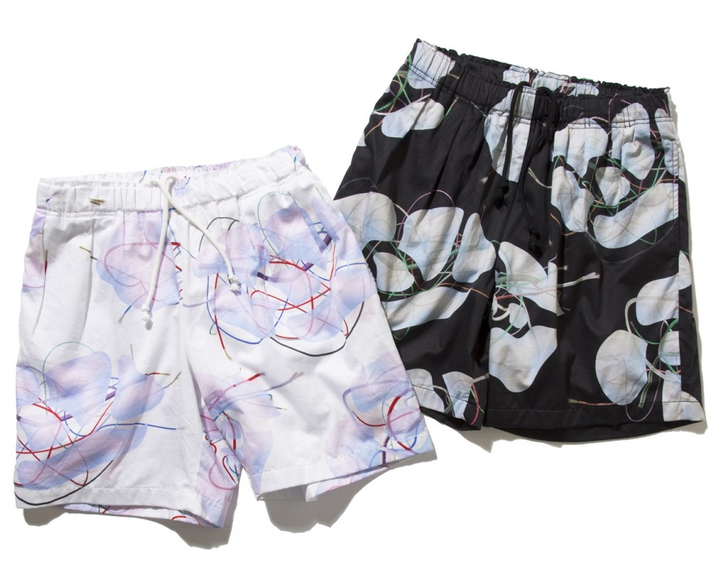 DeMarcolab BRANCHES & LEAVES 2T SHORTS