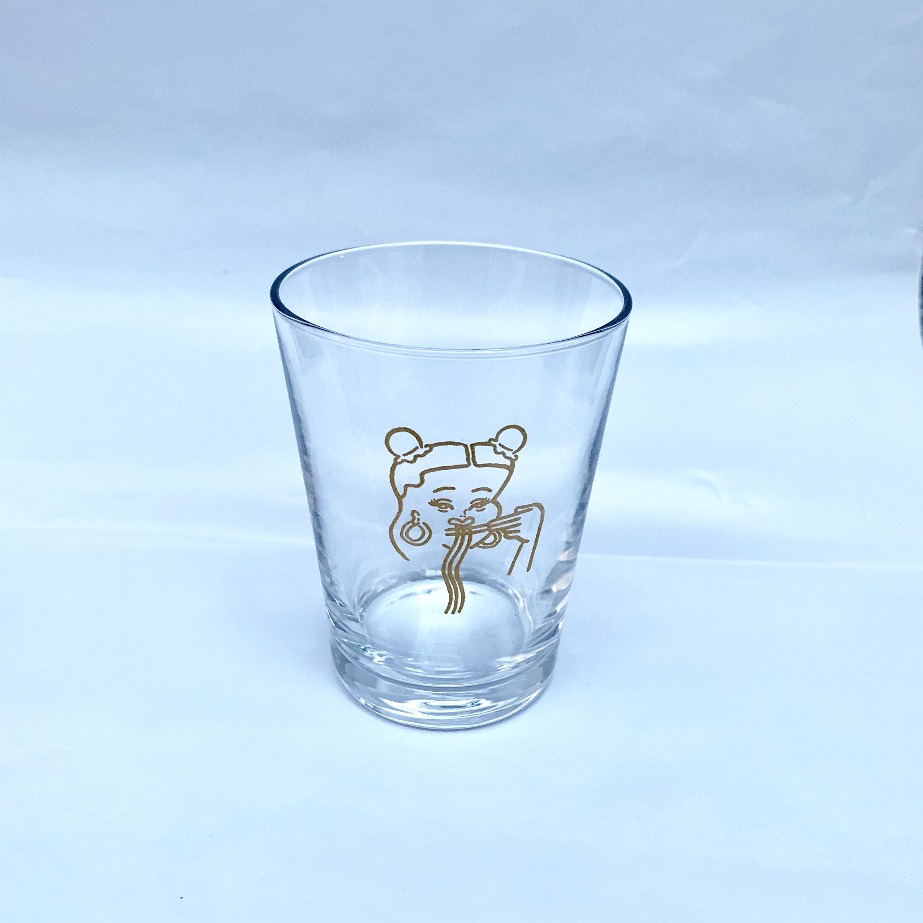 台風飯店 LOGO グラス GOLD