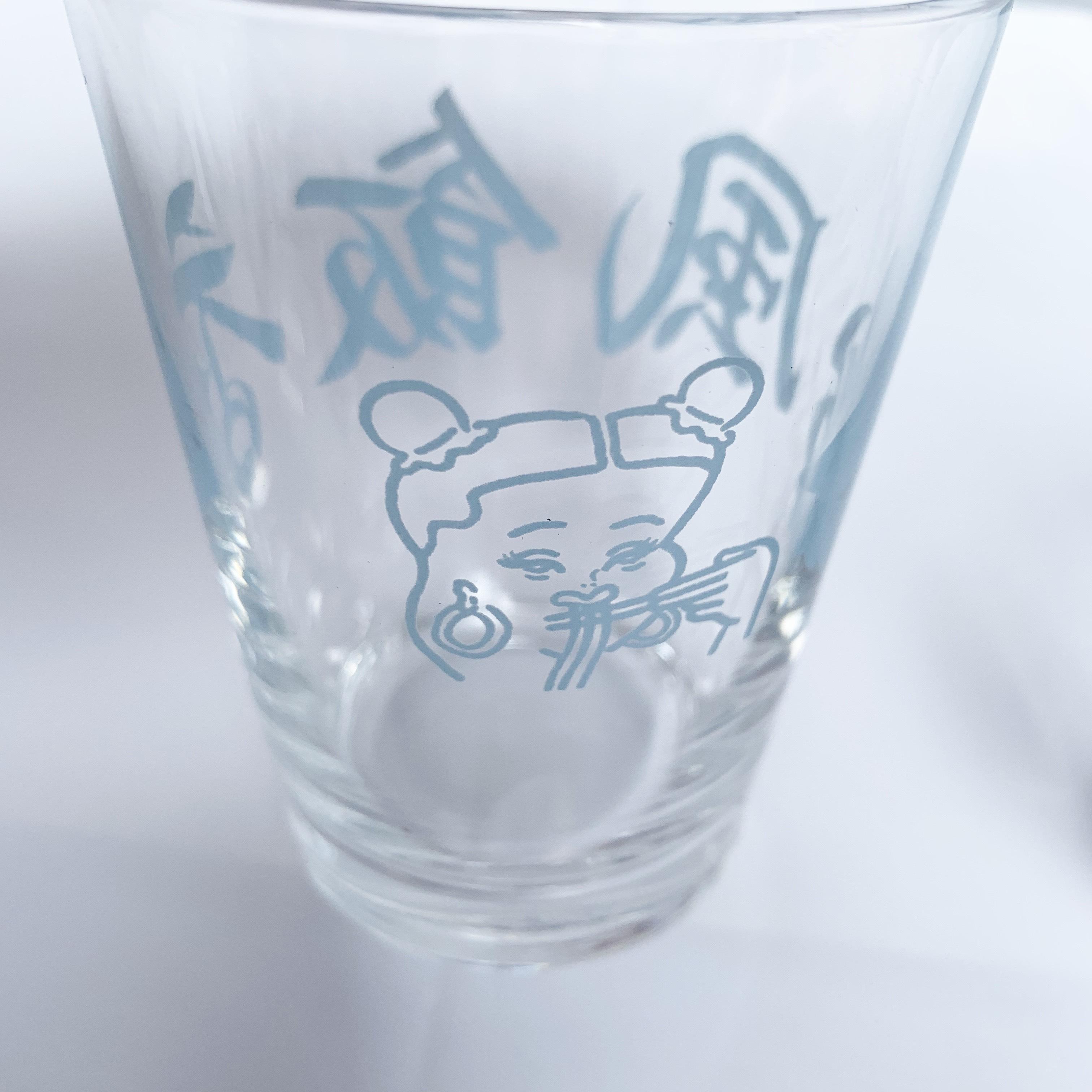 台風飯店グラス 4COLORS TH-04g