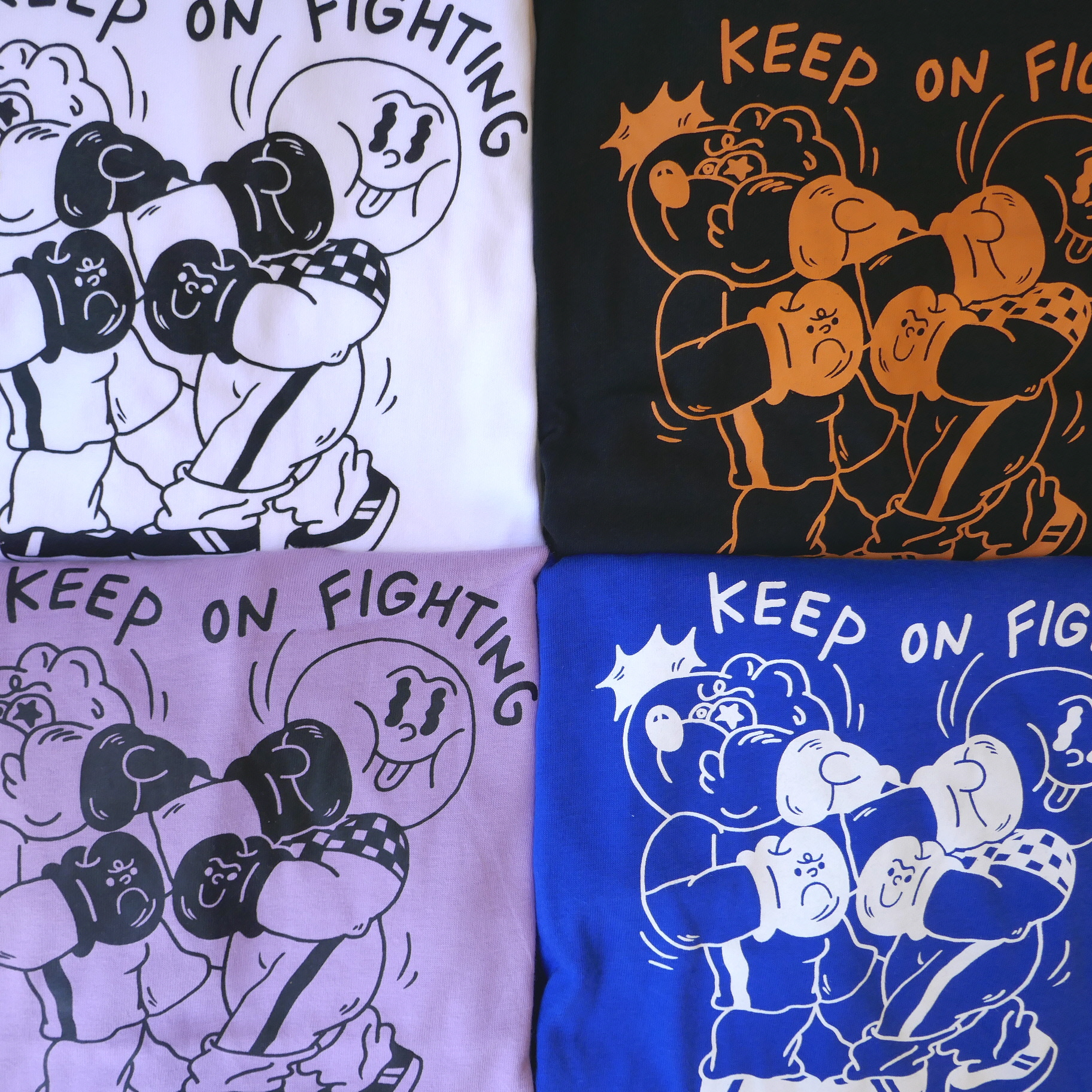 BEAROFF THINGS  KEEP ON FIGHTING  TEE
