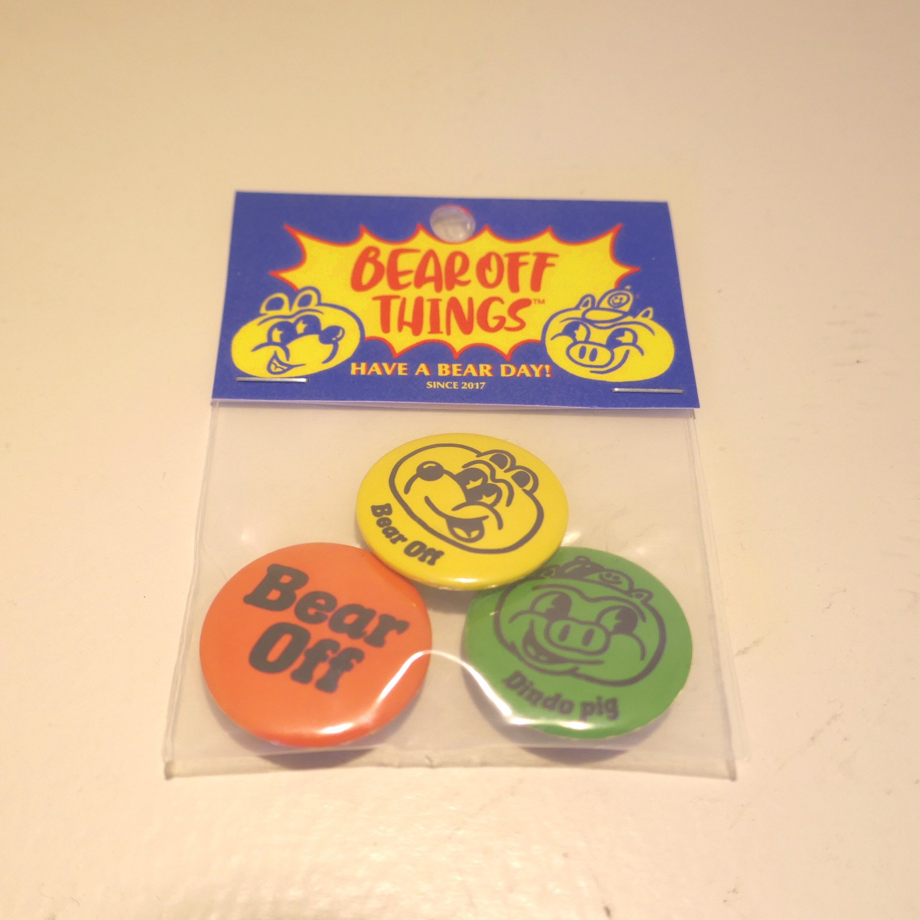 BEAROFF THINGS BADGE