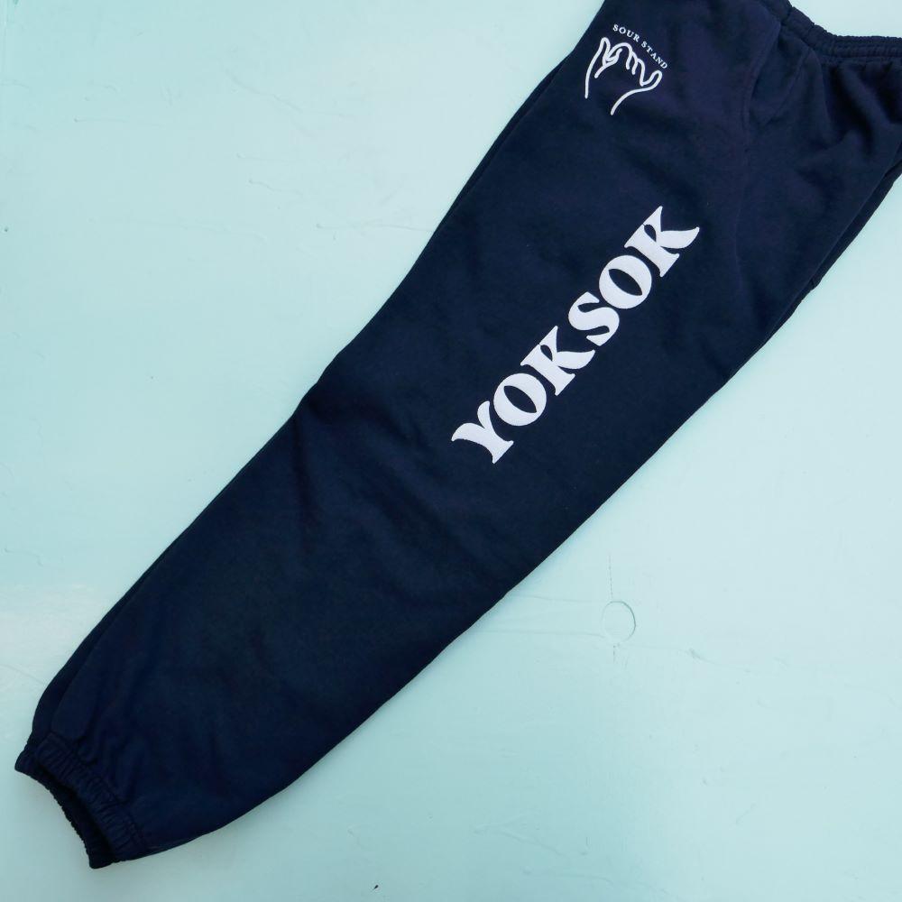 YOKSOK LOGO SWEAT PANTS 4COLOR