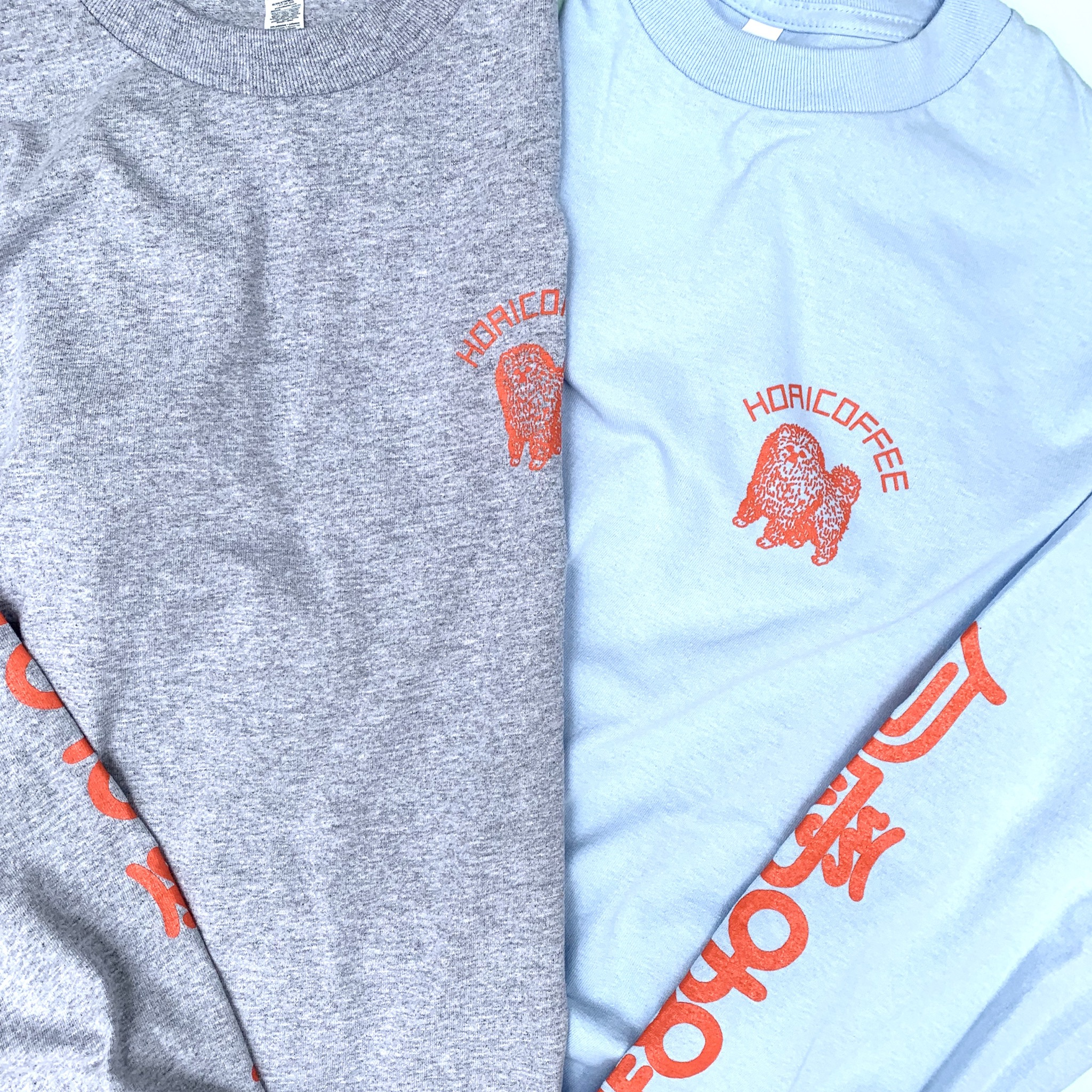 包愛咖啡 SLEEVE PRINT L/S TEE 2COLORS HC-03