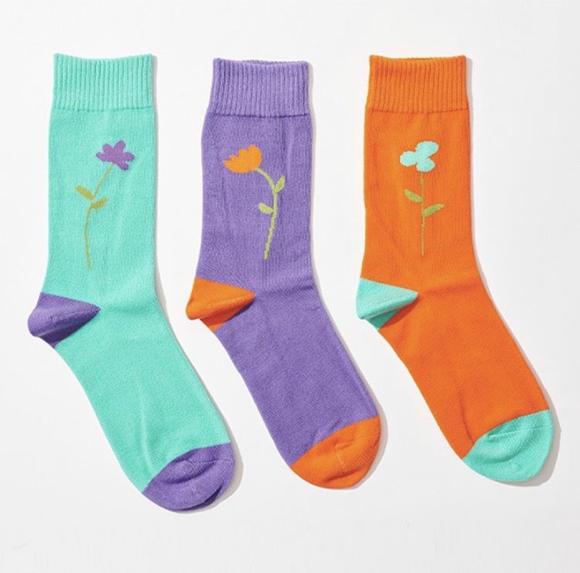 PARK DELI SINGLE STEM SOCKS 3COLORS